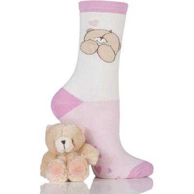 Ladies Forever Friends Bear & Slipper Socks Gift Box