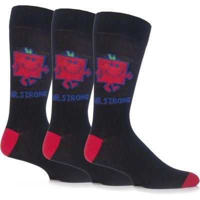 Mens 3 Pair TM Mr. Men Character Socks
