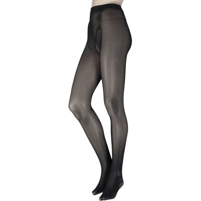 Ladies 1 Pair Couture by Silky Ultimates Seamless and Ladder Proof Opaque Ribbed Tights