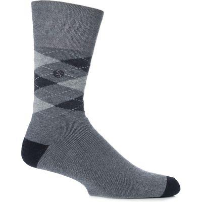 Mens 1 Pair Gentle Grip Cushioned Foot Argyle Socks