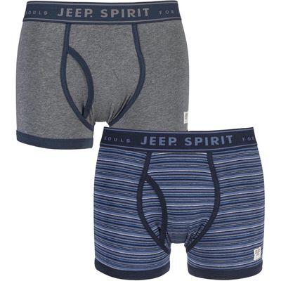 Mens 2 Pack Jeep Spirit Jacquard Waistband Keyhole Trunks