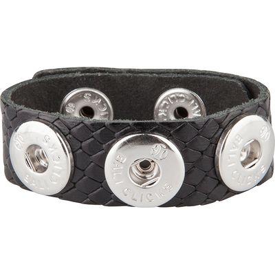 Bali Clicks-Bracelets - Bali Click Armband 515 - Black