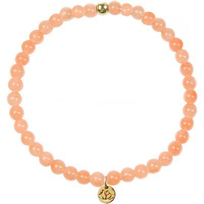 MAS Jewelz-Bracelets - Armband Jade Perzik Plain - Orange