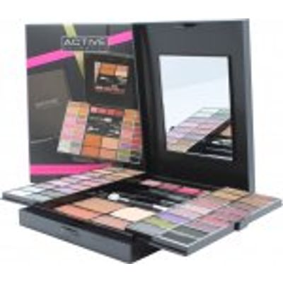 Active Glamour Endless Colour Compact With Mirror 36 Eyeshadows + 4 Lipsticks + 2 Blushers + 1 Bronz