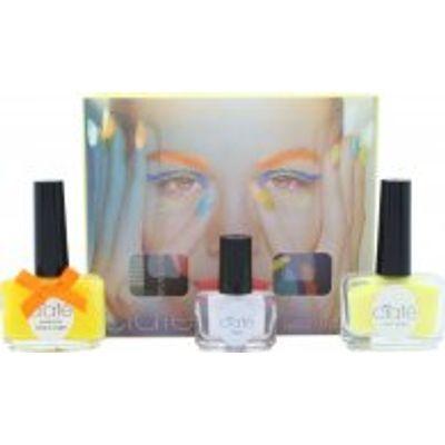 Ciaté Corrupted Neon Manicure Gift Set 13.5ml Neon Orange Nail Polish + 10g Neon Glitter + 5ml Blac