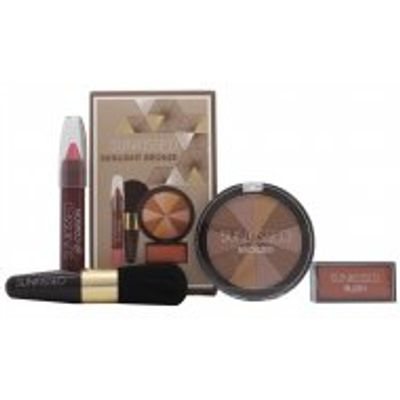 Sunkissed Sunlight Bronze Gift Set - Bronzing Powder + Blusher + Lip gloss + Bronzing Brush