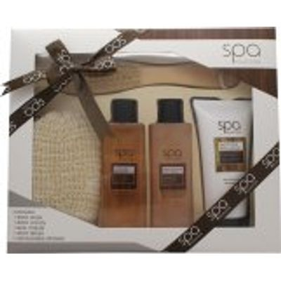 Style & Grace Spa Deluxe Natural Spa Experience Gift Set 250ml Body Wash + 200ml Body Lotion + 250ml