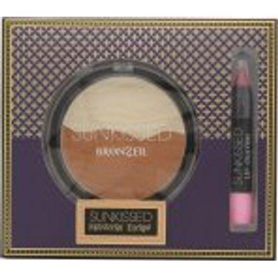 Sunkissed Moroccan Bronze Spice Gift Set 16g Bronzing Powder + 3.3g Lip Crayon