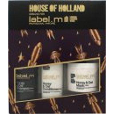 Label.m Honey & Oat Gift Set 300ml Shampoo + 300ml Conditioner + 120ml Hair Mask