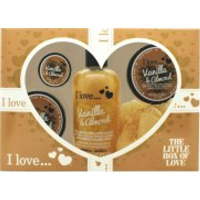 I Love... The Little Box of Love Vanilla and Almond Gift Set 250ml Bath & Shower Cremé + 50ml Body