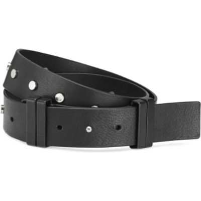 Flat Studded Leather Belt