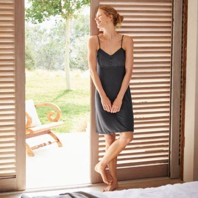 Jersey Jacquard Detail Nightgown