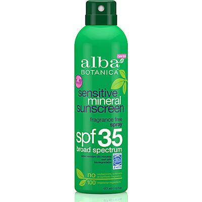 Alba Botanica Sensitive Mineral Sunscreen Spray SPF35