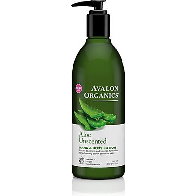 Avalon Organics Hand & Body Lotion - Aloe Unscented (Unscented)