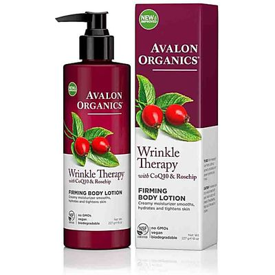 Avalon Organics Wrinkle Therapy Firming Body Lotion with CoQ10 & Ro...