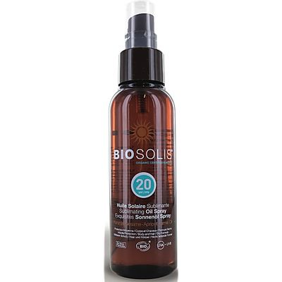 BioSolis Sublimating Sun Oil Spray - SPF 20 (100ml)
