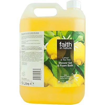 Faith in Nature Lemon & Tea Tree Shower Gel & Bath Foam - 5L