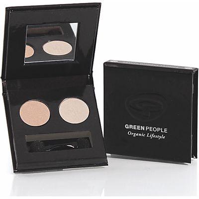 Green People Illuminating Eye Duo - Pearl & Satin Pink