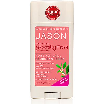 Jason Natural Deodorant Stick - Unscented Naturally Fresh Woman