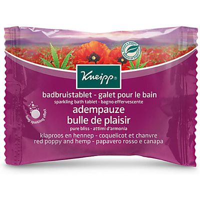 Kneipp Pure Bliss Red Poppy & Hemp Sparkling Bath Tablet 80g