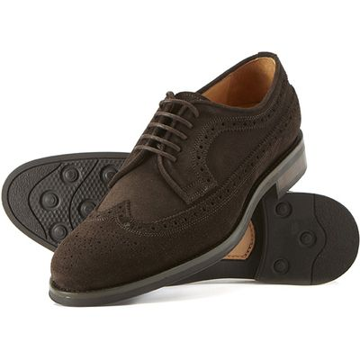 Bowley Brown Brogue With Rubber Sole