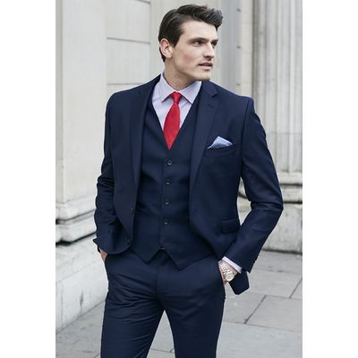 Navy Wilson Three Piece Suit