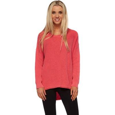 Amira Sweater In Raspberry Pink Cotton