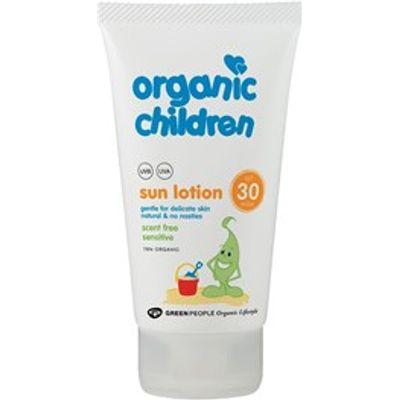 Green People Organic Scent Free Children Sun Lotion SPF30 150ml