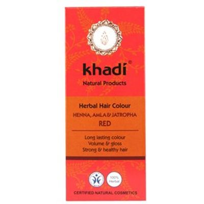 Khadi Herbal Hair Colour - Henna, Amla & Jatropha Red 100g
