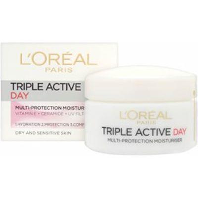L'Oreal Paris Triple Active Day Moisturiser  - Dry & Sensitive Skin 50ml