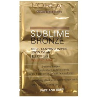 L'Oreal Paris Sublime Bronze Easy Tanner Self-Tanning Wipes For Face & Body Non-tint