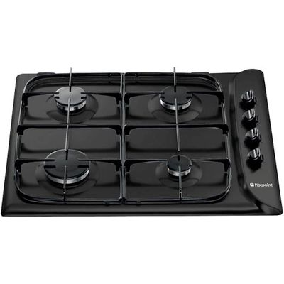 5016108554128 | Hotpoint G640SK   Style   60cm Gas Hob in Black Store