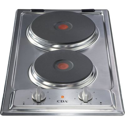 5060143311284: CDA HCE340SS 30cm Domino Electric Hob in Stainless Steel With 5Yr Parts Guarantee
