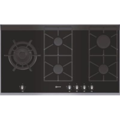 4242004113508: Neff T69S86N0 Extra wide gas hob on Black ceramic glass with stainless steel trim
