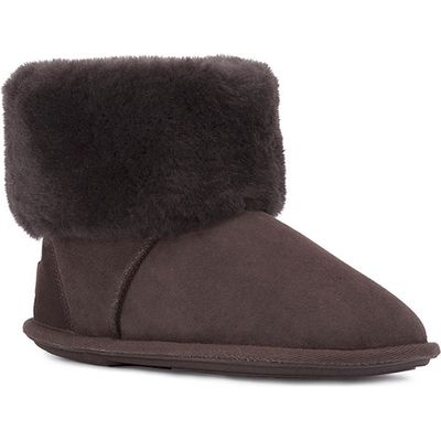 Ladies Albery Sheepskin Slippers Chocolate UK Size 3/4