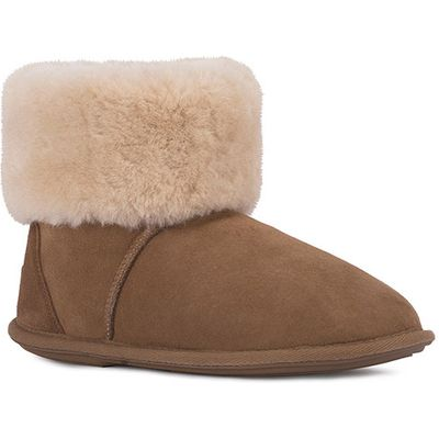 Ladies Albery Sheepskin Slippers Chestnut UK Size 7/8