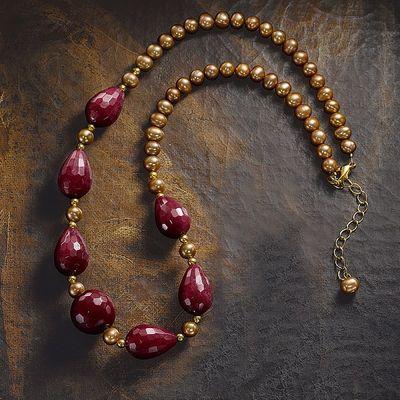 Medici Pearl & Jade Necklace
