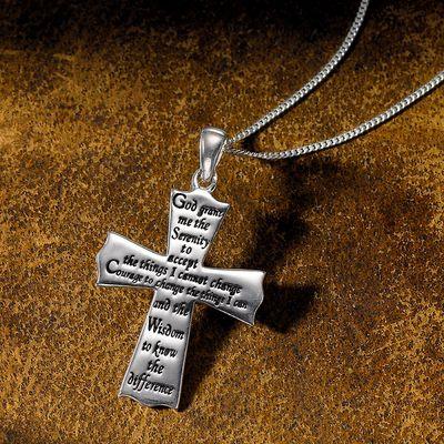Silver Serenity Cross