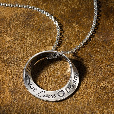 With Great Love Silver Pendant