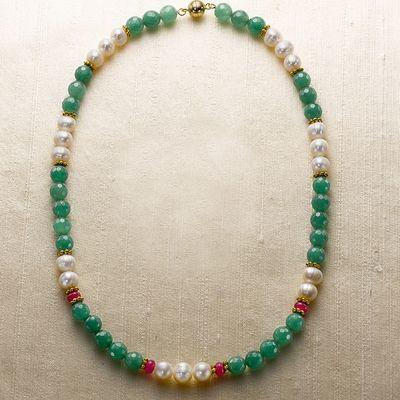 Thanjavur Gemstone Necklace