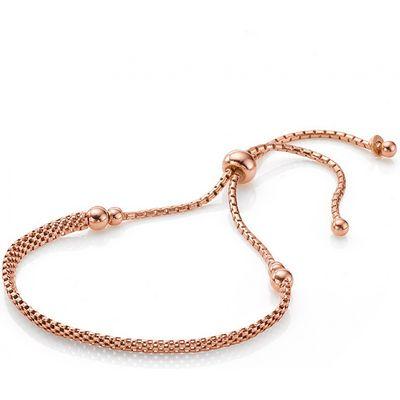 Rosy Beaded Slider Bracelet