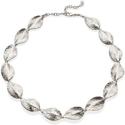 Hammered Leaf Necklace