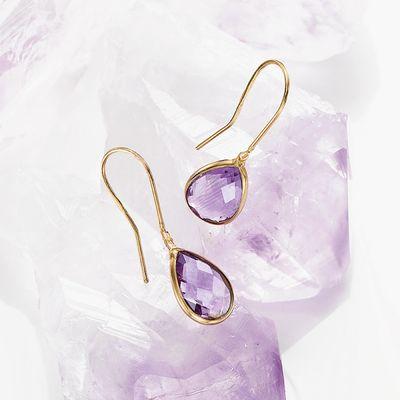 Amethyst Aurora Dewdrop Earrings