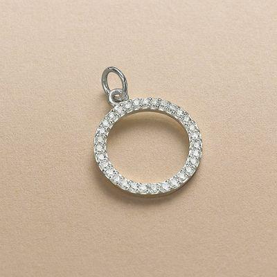 Silver Circle of Life Charm