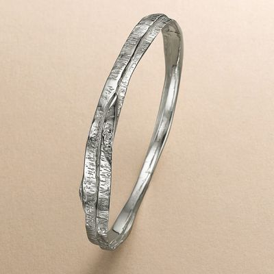 Hammered Strands Bangle