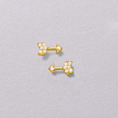 Aim High Golden Stud Earrings