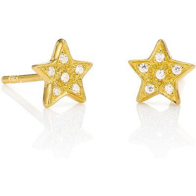 Reach for the Stars Golden Stud Earrings