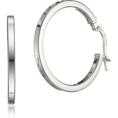 20mm Silver Hinged Hoop Earrings