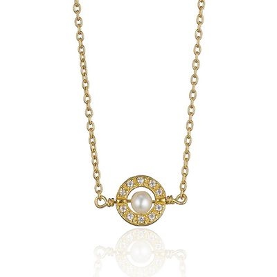 Gold­plated Pearl Centre Pendant