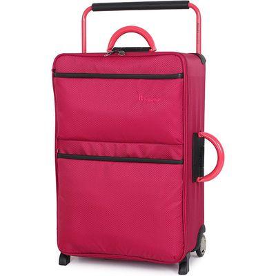 IT Luggage World's Lightest 2-Wheel Medium Suitcase - Persian Red